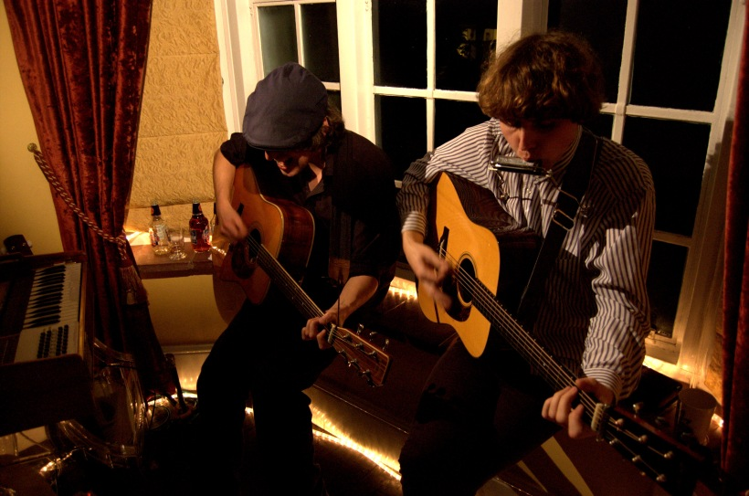 Mikey Kenney with Damon Kilcawley in the Front Room